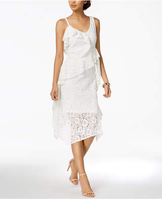 Taylor Ruffled Lace Midi Dress, Created for Macy's
