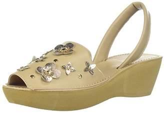 Kenneth Cole Reaction Women's Fine Glass Floral Backstrap Wedge Sandal