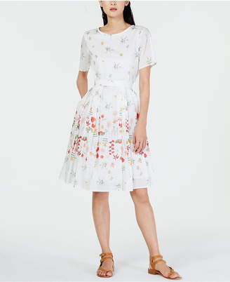 Max Mara Giunto Cotton Floral Dress