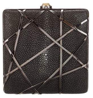 Reed Krakoff Stingray & Leather Lattice Clutch