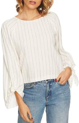 1 STATE 1.STATE Striped Tie-Sleeve Top
