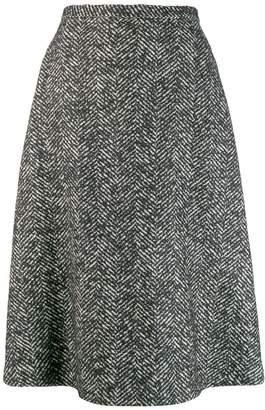 Rochas knitted patterned skirt