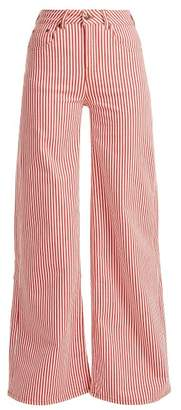 Rockins - Mega Loon High Rise Striped Jeans - Womens - Red Stripe