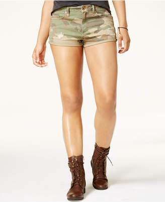 American Rag Juniors' Camo-Print Twill Cargo Shorts, Created for Macy's $44.50 thestylecure.com