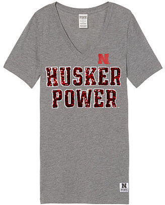 Victorias Secret University Of Nebraska Perfect V-Neck Tee $16.99 thestylecure.com