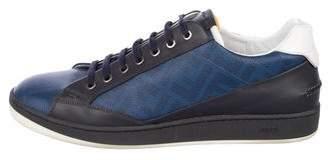 Fendi Zucca Leather Sneakers