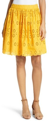 Women's Kate Spade New York Eyelet Embroidered Skirt $248 thestylecure.com