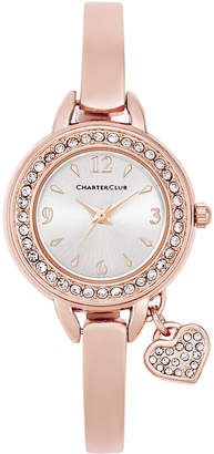 Charter Club Women's Heart Charm Bangle Bracelet Watch 26mm, Created for Macy's $37.50 thestylecure.com
