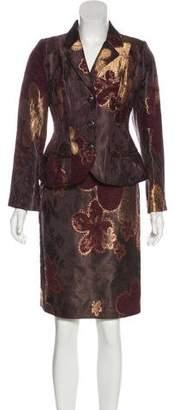 Christian Lacroix Floral Jacquard Skirt Suit