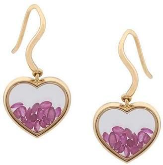 Aurelie Bidermann 'Chivor' ruby heart earrings