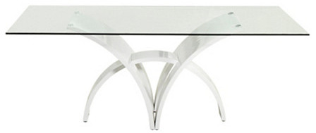 Sheridan Glass Dining Table, White