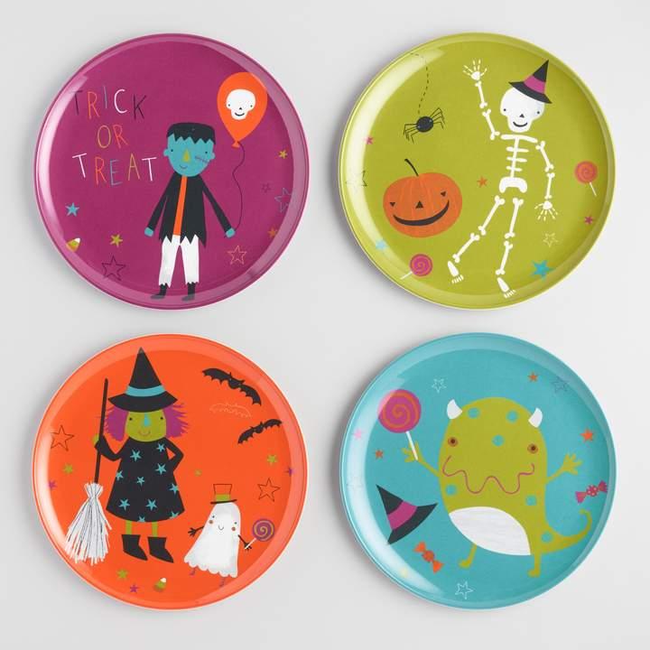 Cost Plus World Market Halloween Party Melamine Plates Set Of 4