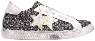 2star 2Star Low Blue Gold Glitter Sneakers