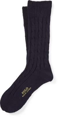 Ralph Lauren Cable-Knit Boot Socks