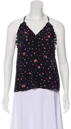 Rebecca Taylor Silk Floral Sleeveless Top w/ Tags