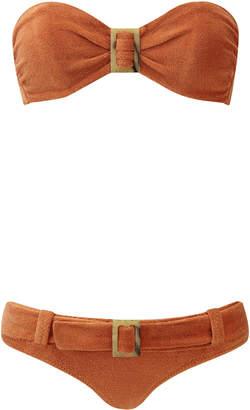 Lisa Marie Fernandez Buckled Terry Cloth Bikini