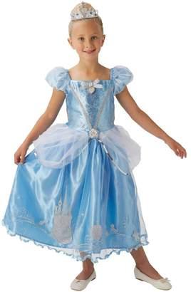 Rubie's Costume Co Girls Blue Cinderella Fancy Dress Costume - Blue