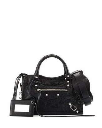 Balenciaga Classic Nickel Mini City AJ Bag $1,395 thestylecure.com