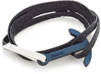Miansai Modern Anchor Two Tone Wrap Bracelet $85 thestylecure.com