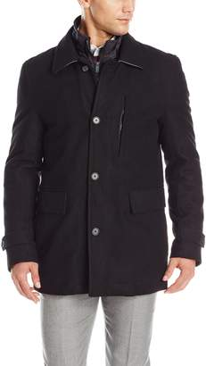 Nick Graham Men's Upper West Side Wool Bib Front Car Coat
