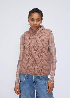 Sleeveless Cable Knit Sweater Shopstyle