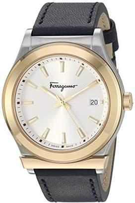 Salvatore Ferragamo Men's 'Ferragamo 1898' Quartz Gold-Tone and Leather Watch