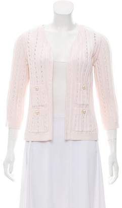 Chanel Open Knit Open Front Cardigan
