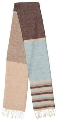 Brunello Cucinelli Cashmere and Linen Stripe Scarf