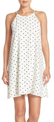Women's Eci Polka Dot Crepe Swing Dress $88 thestylecure.com