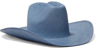 CLYDE Straw Hat - Light blue
