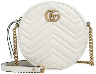 Gucci Mini Round Marmont Matelassé Shoulder Bag
