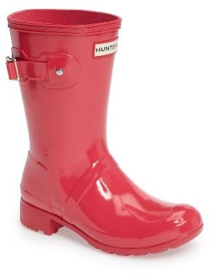 Women's Hunter Original Tour Short Gloss Packable Rain Boot $140 thestylecure.com