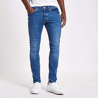 River Island Mid blue wash fade skinny Sid jeans
