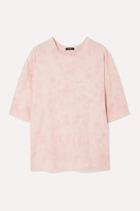 Bassike Motley Oversized Tie-dyed Organic Cotton-jersey T-shirt - Pink