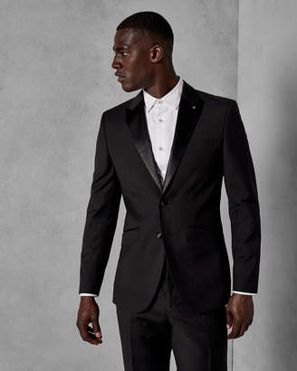 Ted Baker MARLIEJ Wool satin detail dinner suit jacket