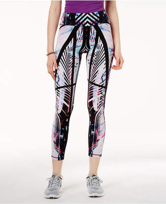 Material Girl Active Juniors' Palm-Printed Yoga Leggings, Created for Macy's