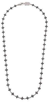 King Baby Studio - Small MB Cross Chain Necklace w/ Black CZ Stones Necklace $880 thestylecure.com