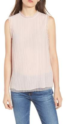 Chelsea28 Dotted Mesh Top