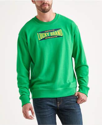 Lucky Brand Totally Lucky Unisex Stretch Logo Crew Sweatshirt