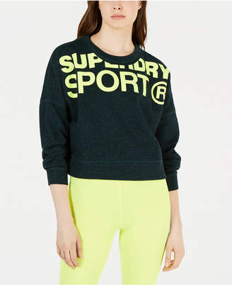 Superdry Active Cropped Graphic Sweatshirt
