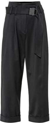 Brunello Cucinelli High-rise wool-blend cropped pants