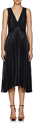 A.L.C. Women's Marisol Pleated Lamé Dress - Navy