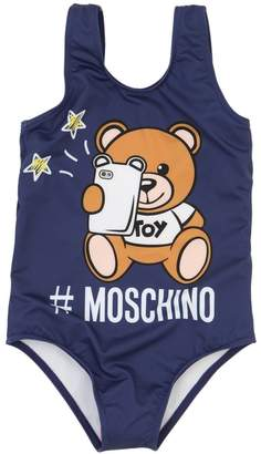 Moschino Printed Lycra One Piece Swimsuit