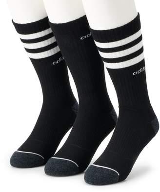 adidas Men's 3-pack Core Climalite Crew Socks