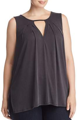 Lucky Brand Plus Pleated Cutout Tank