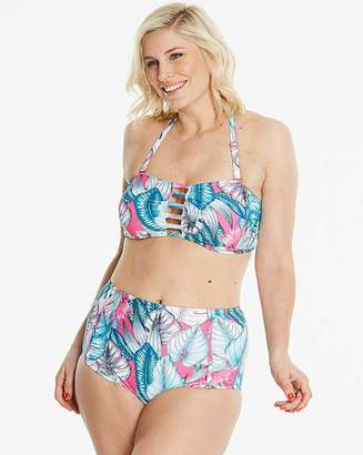 e14f93df0ad Simply Yours SimplyYours Bandeau Palm Print BikiniTop