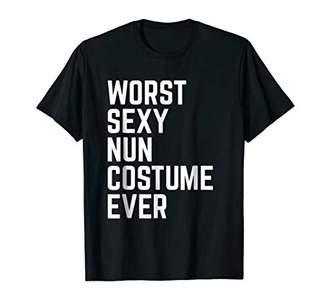 Worst Sexy Nun Costume Ever Funny Halloween Tshirt
