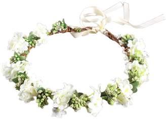 styling/ OULII Wedding Floral Headband Women Flower Head Wreath Bridesmaid Bridal Flowers Girls Hair Accessories