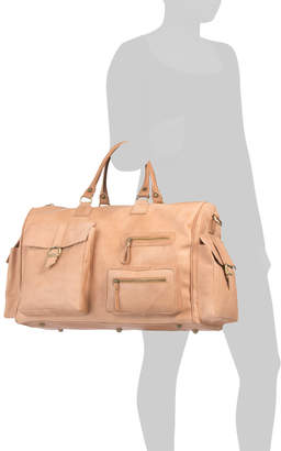 Made In Italy Leather Duffel Bag