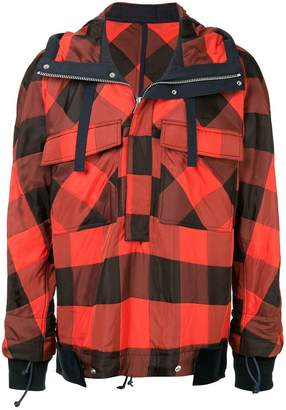 Sacai check pullover jacket